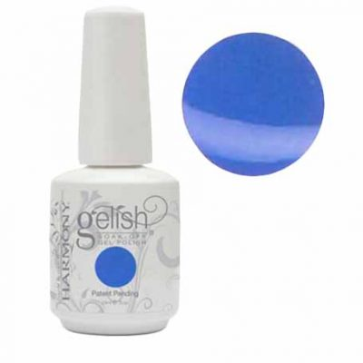 "Gel Soak Off GELISH "" Up In The Blue -Light Blue Creme"""