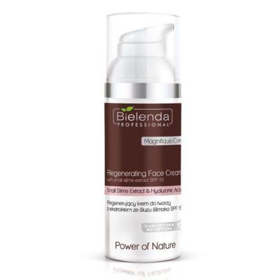 crema regeneratoare pentru fata cu extract de clei de melc si acid Hialuronic SPF 15
